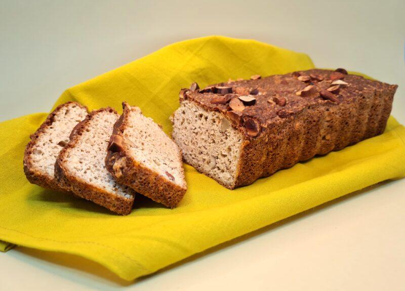 pão low carb sem glúten com castanhas