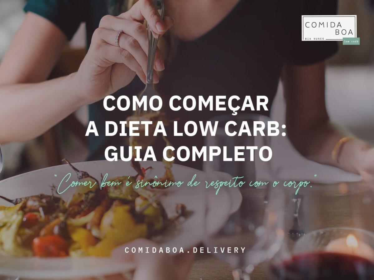 Mulher comendo comida low carb