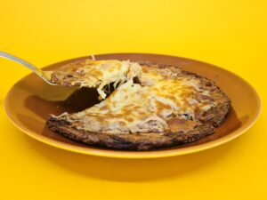 pizza low carb de atum