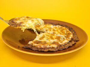 pizza low carb de 4 queijos