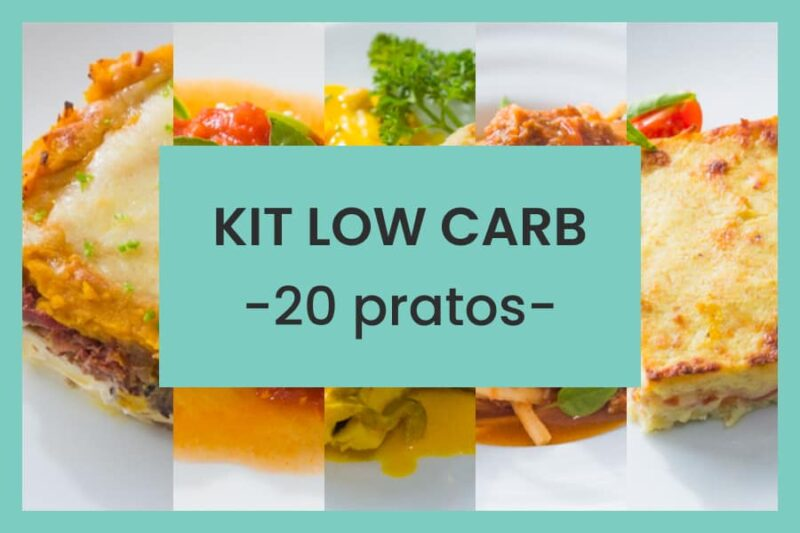 kit low carb 20 pratos