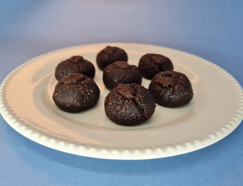 cookie low carb de chocolate